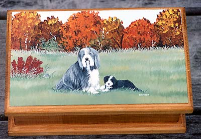 Small Jewellery Box - Bearded Collie