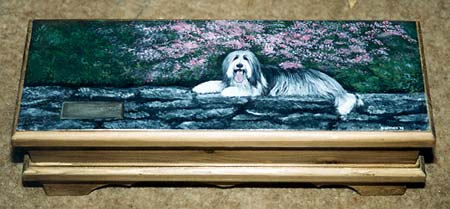 Large Jewellery Box - Bearded Collie