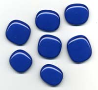 Dark blue glass pendants