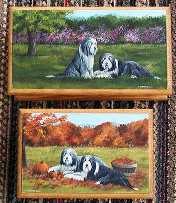 Small and Medium Jewellery Boxes - Bearded Collie