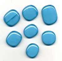Turquoise blue glass pendants