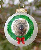 Cairn Terrier Xmas Ornament