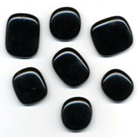 Black glass pendants